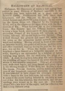 halloween at balmoral staffordshire sentinel 1874