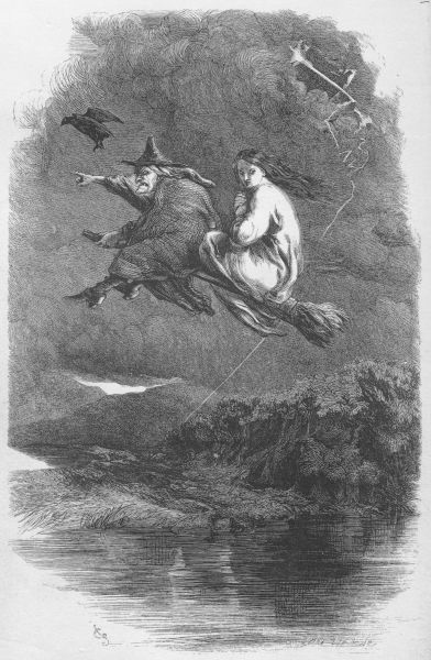 The Ride Through the Murky Air from The Lancashire Witches, 1848.