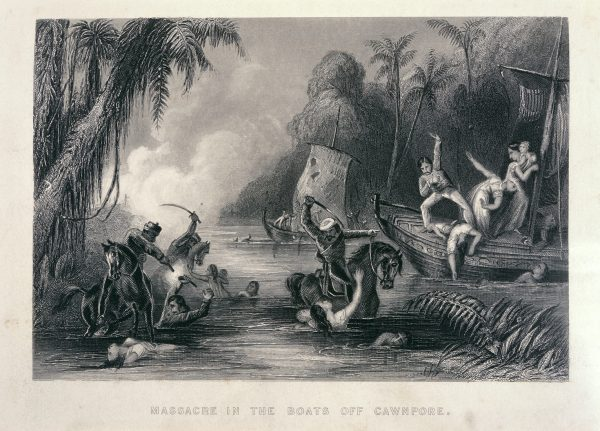 1858 massacre in the boats off cawnpore by charles ball 1858 e1525201061106