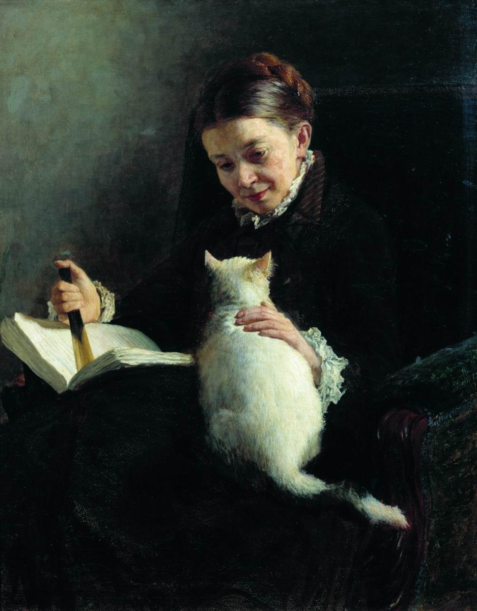 Elizabeth Platonovna Yaroshenko by Nikolai Yaroshenko 1880