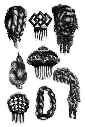 godeys ladys book hair accessories illustration 1873