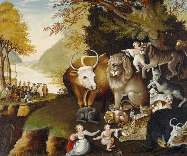 Peaceable Kingdom by Edward Hicks 1834 e1524417412126
