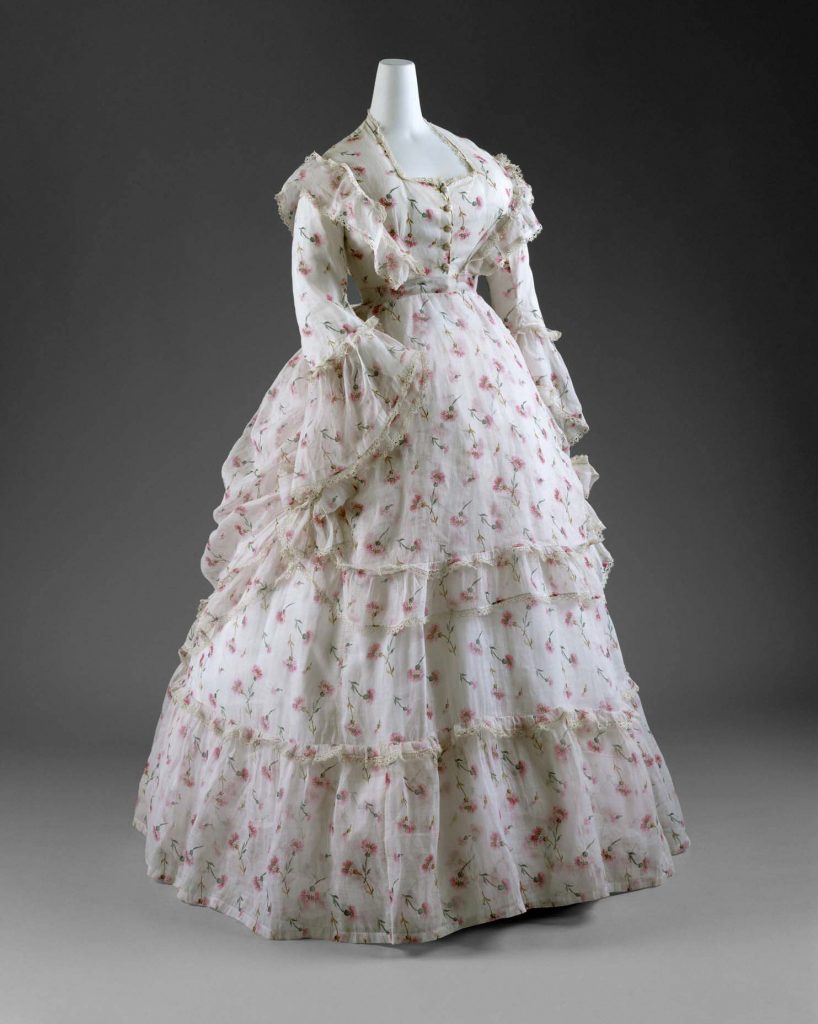 1872 french cotton summer day dress via met museum 1