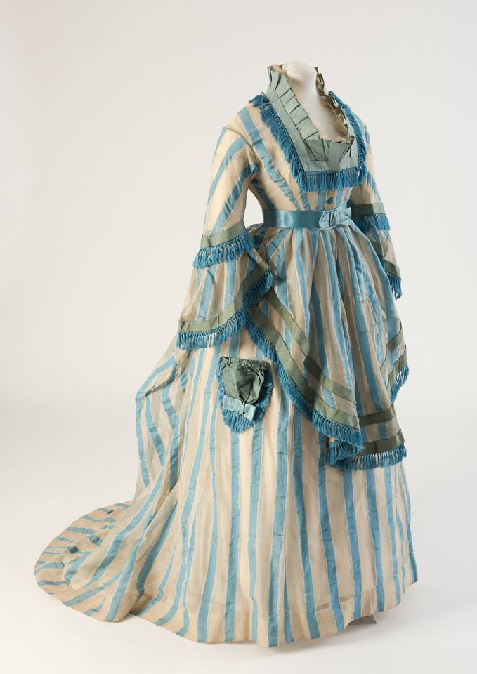 1874 Cotton Gauze Day Dress Fashion Museum Bath Ts On Victorian Summer