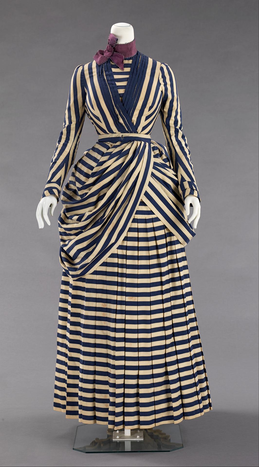 1885 1888 american silk tennis dress via met museum