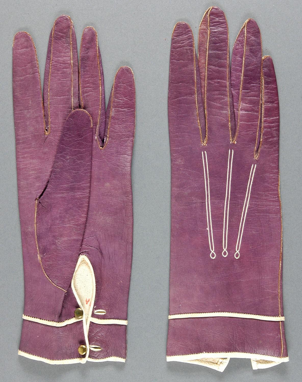 1887 kid leather and silk gloves via philadelphia museum of art
