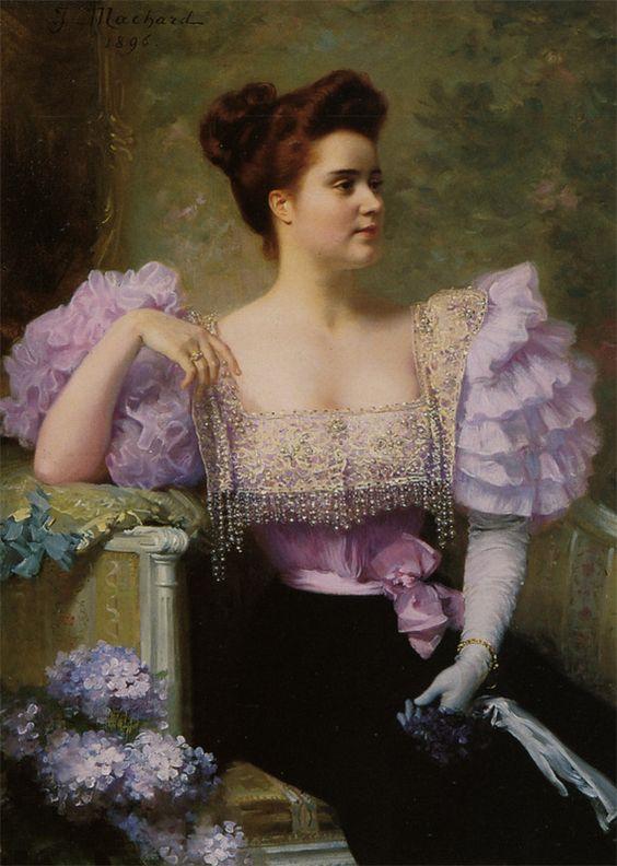 portrait of lady by jules louis machard 1839 1900