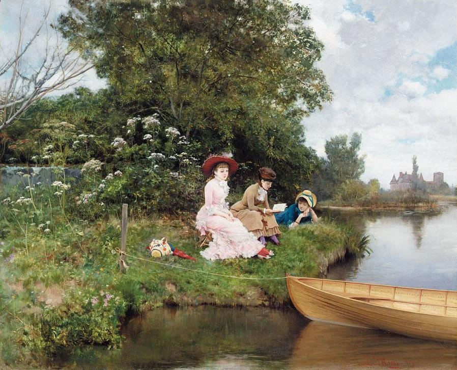 summer reverie by lucius rossi 1878