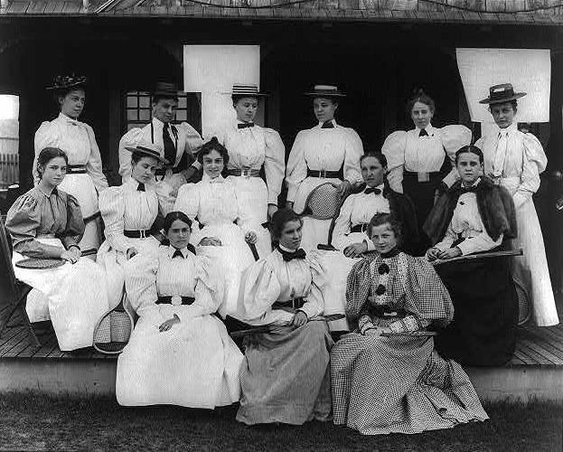 u s international tennis players 1895 gilbert and bacon photographer library of congress1