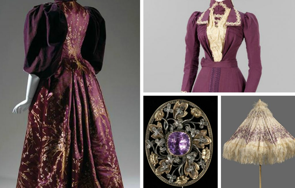 Victorian Purple Collage