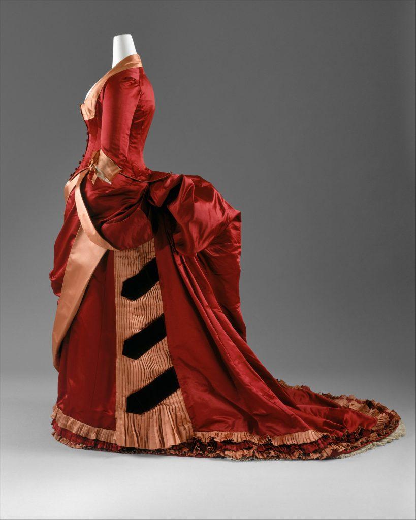 1884 1886 silk evening dress via met museum