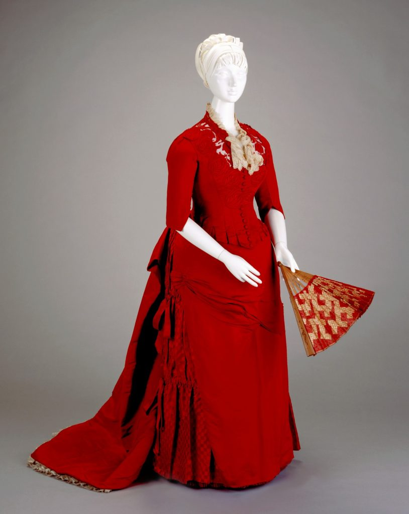 1886 selina cadwallader silk reception dress via cincinnati art museum