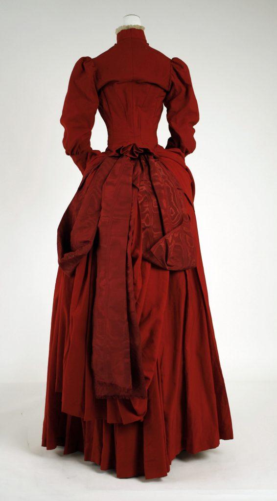 1887 wool dress via met museum
