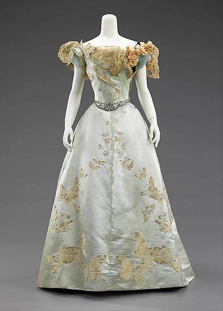 1898 house of worth silk butterfly evening dress via met museum 2