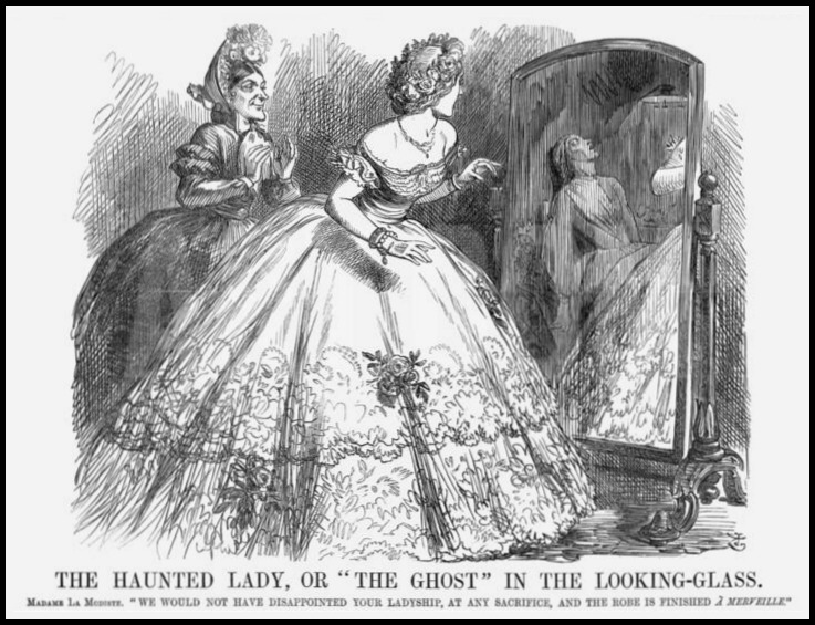 ghost in the looking glass john tenniel punch 1863
