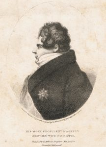 lithograph of george iv in profile by george atkinson printed by c hullmandel 1821