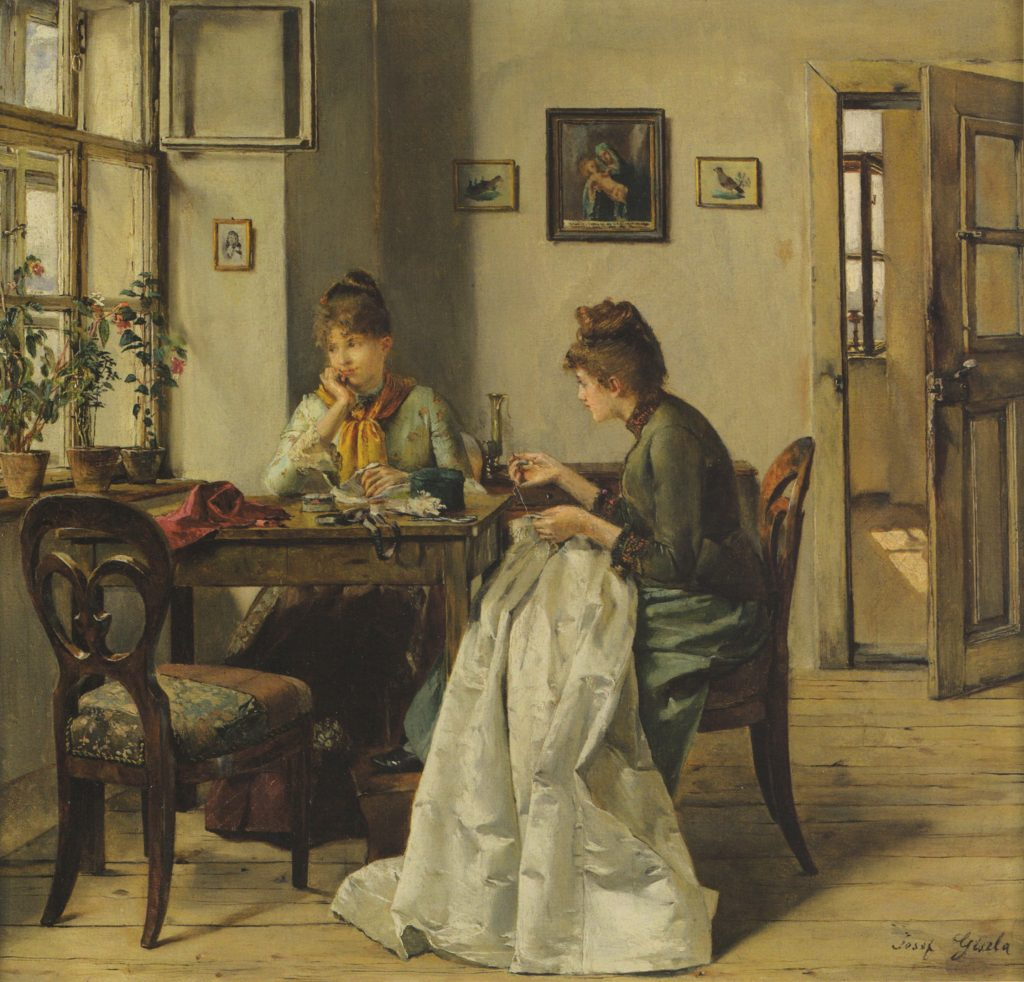 the seamstress by josef gisela 1897