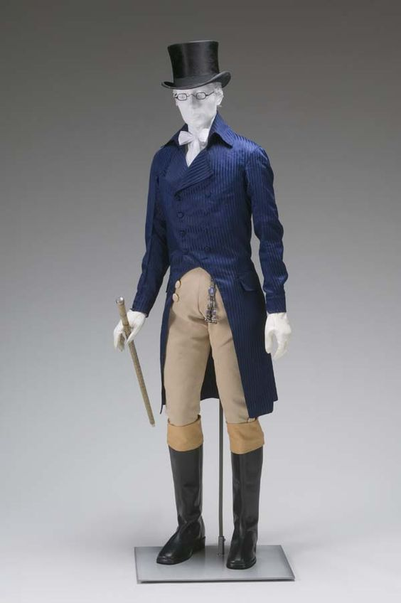 1805 1810 mens cutaway tail coat via mint museum1