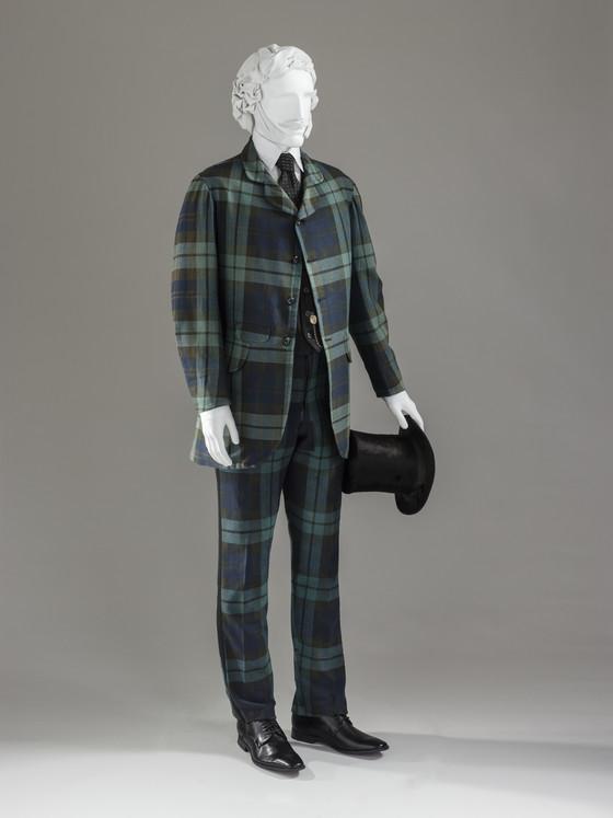 1860 1870 wool plaid suit via lacma