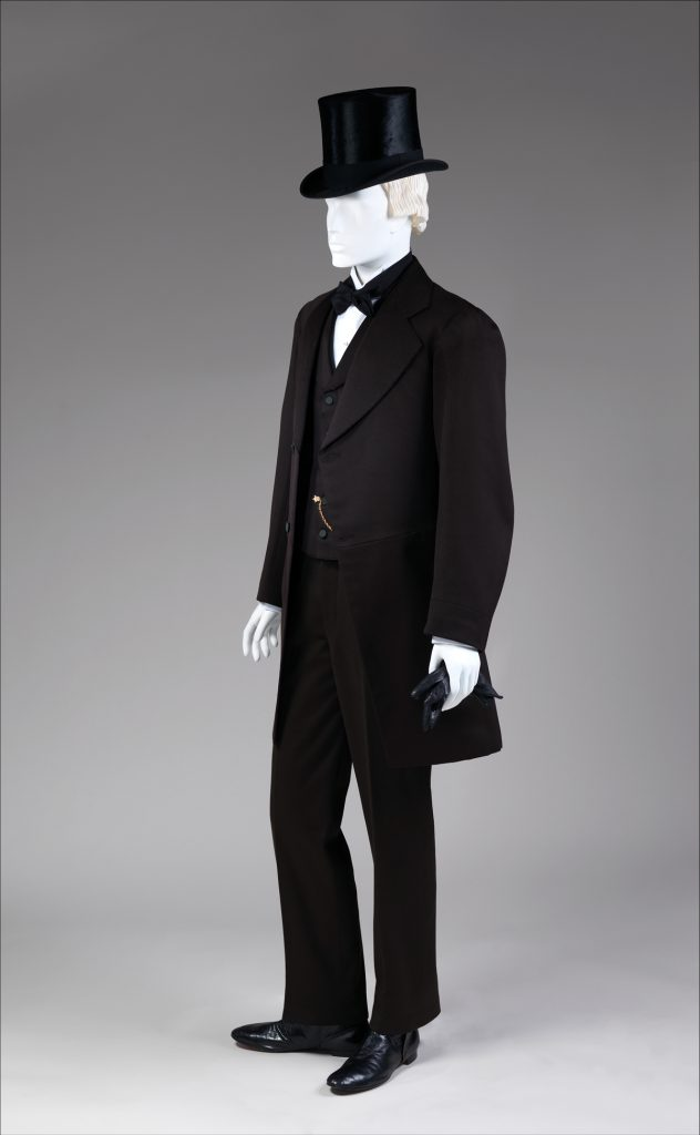 1867 1868 black wool three piece suit 2 via met museum