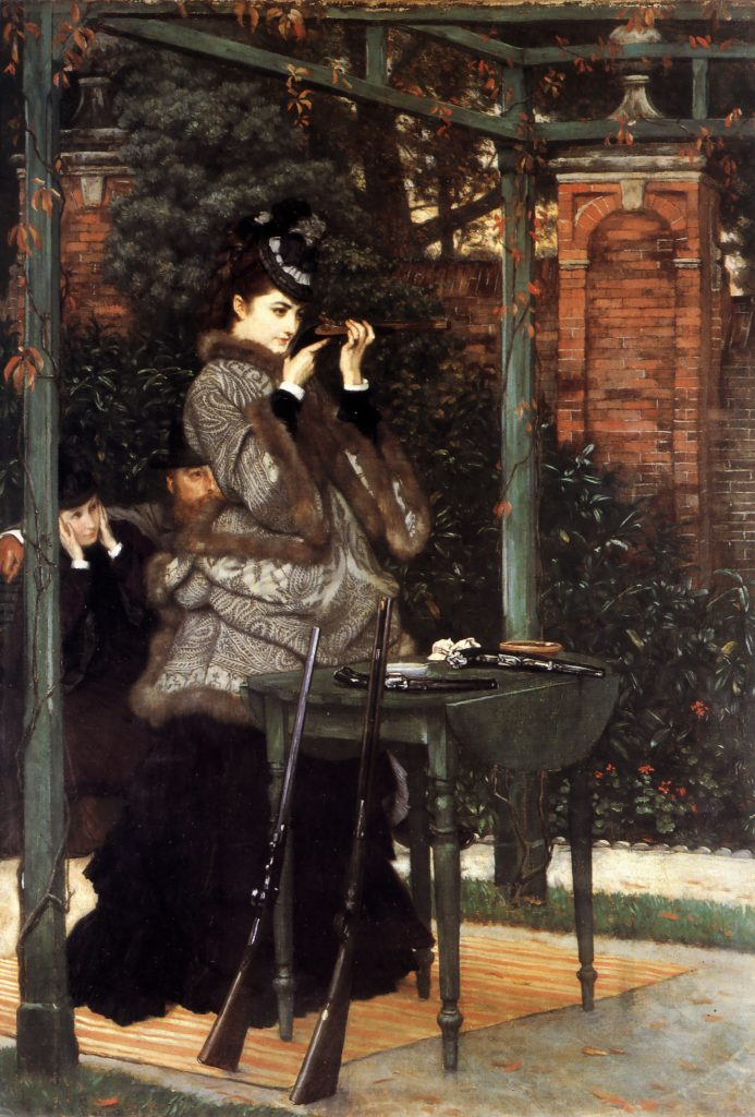 at the rifle range by james tissot 1869