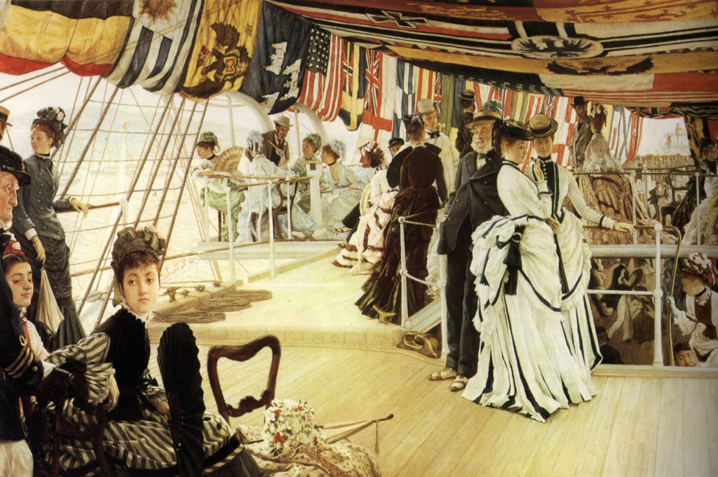 ball on shipboard by james tissot 1874