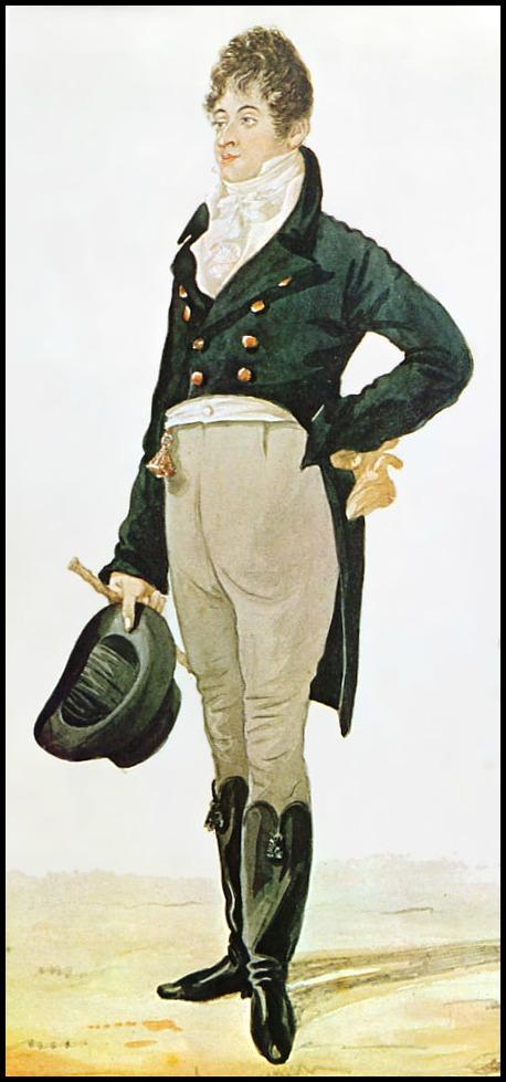 caricature of beau brummell by robert dighton 1805