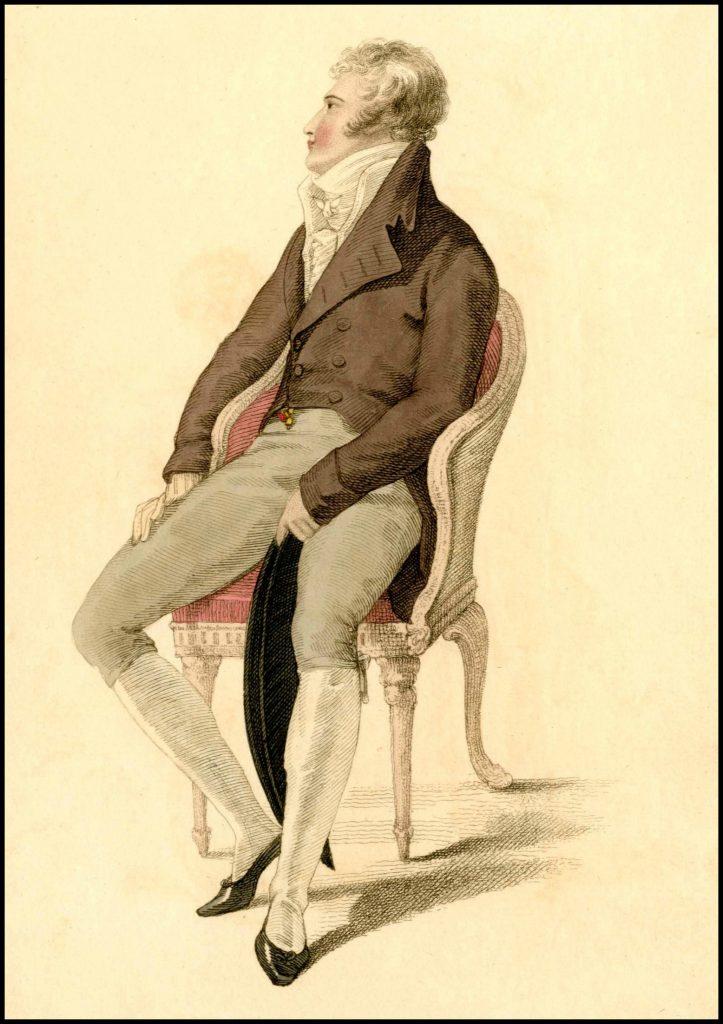 full dress of a gentleman ackermanns plate 1810