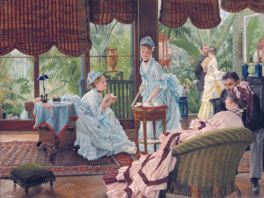 in the conservatory by james tissot 19th century