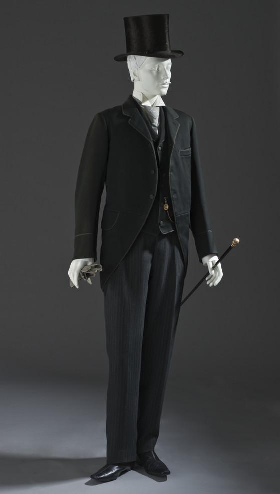 mens morning coat and vet 1880 via lacma