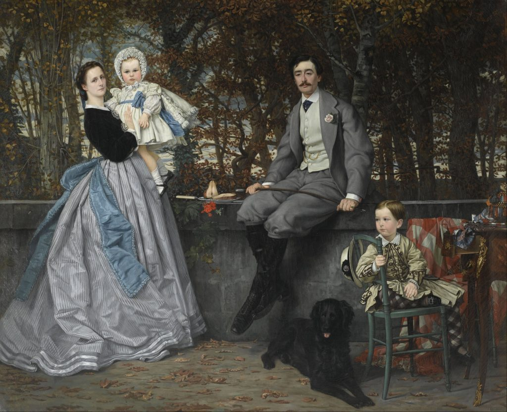 portrait of the marquis and marchioness of miramon and their children by james tissot 1865