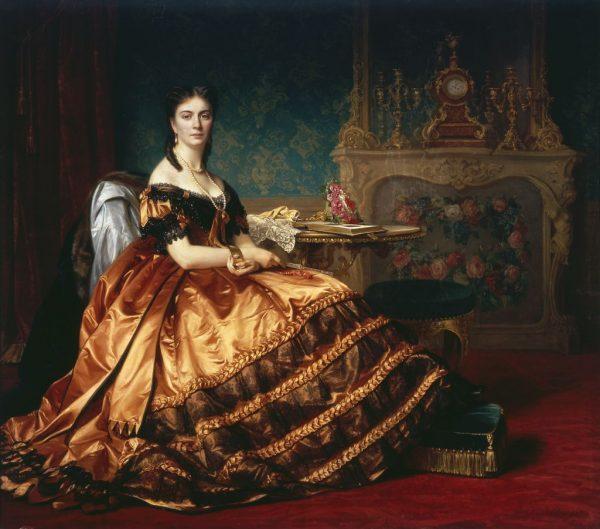 Portrait of Emilia Włodkowska by Jozef Simmler, 1864.