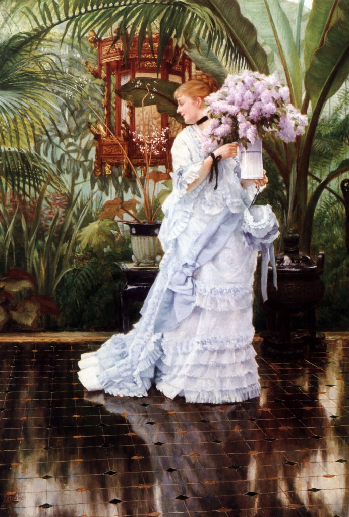 the bunch of lilacs by james tissot 1875