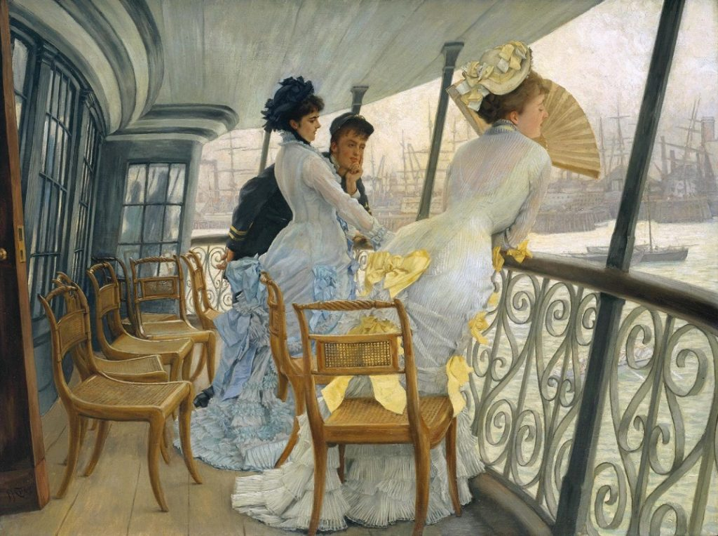 the gallery of hms calcutta portsmouth 1877 by james tissot