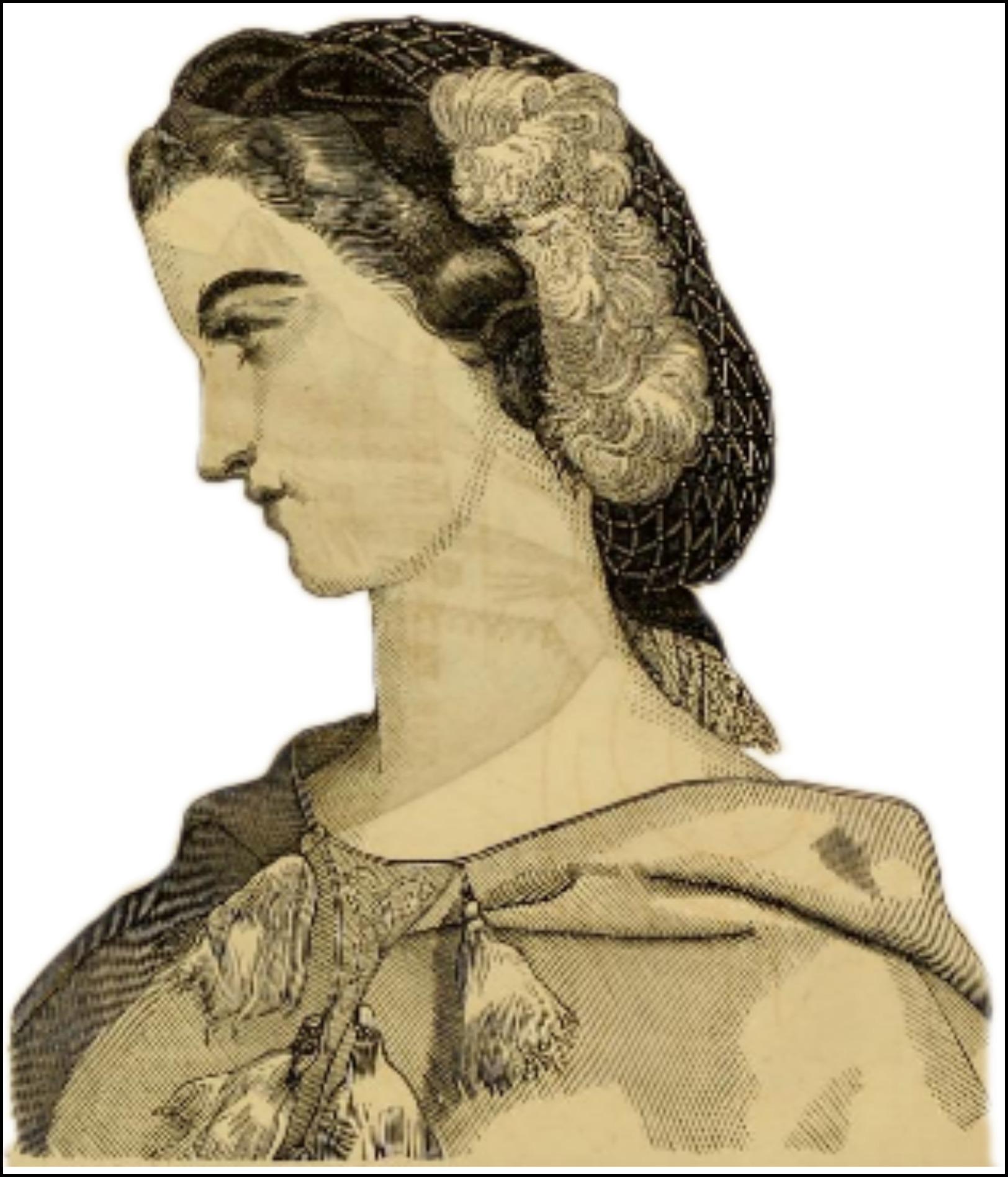gold hair net godeys ladys book 18632