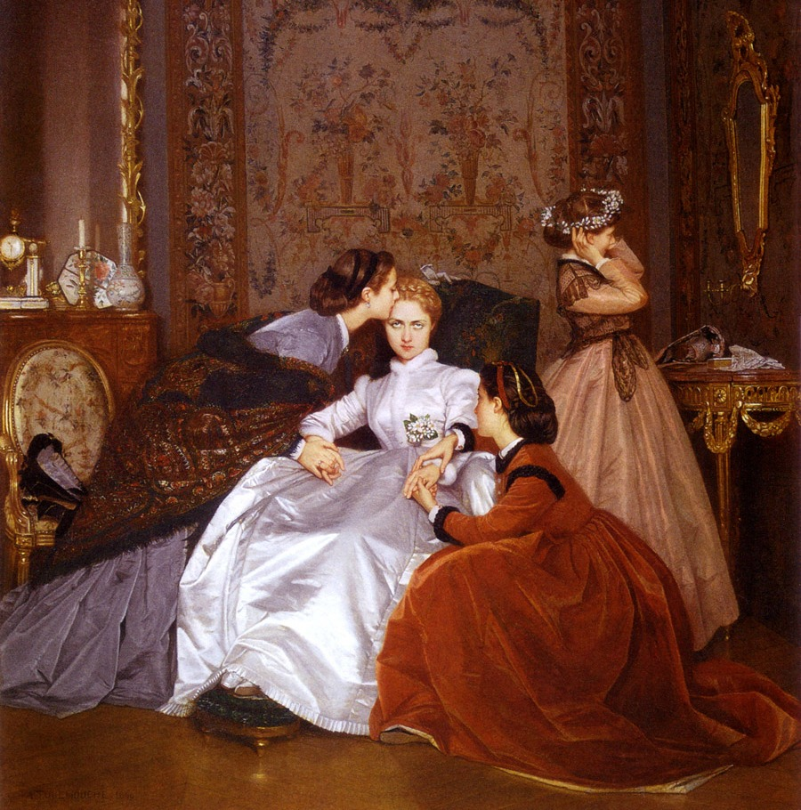 The Reluctant Bride by Auguste Toulmouche 1865.