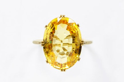 1800 1869 yellow sapphire ring set in gold via victoria and albert museum