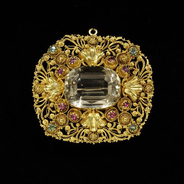 1820 1830 yellow citrine brooch set in gold filligree via victoria and albert museum