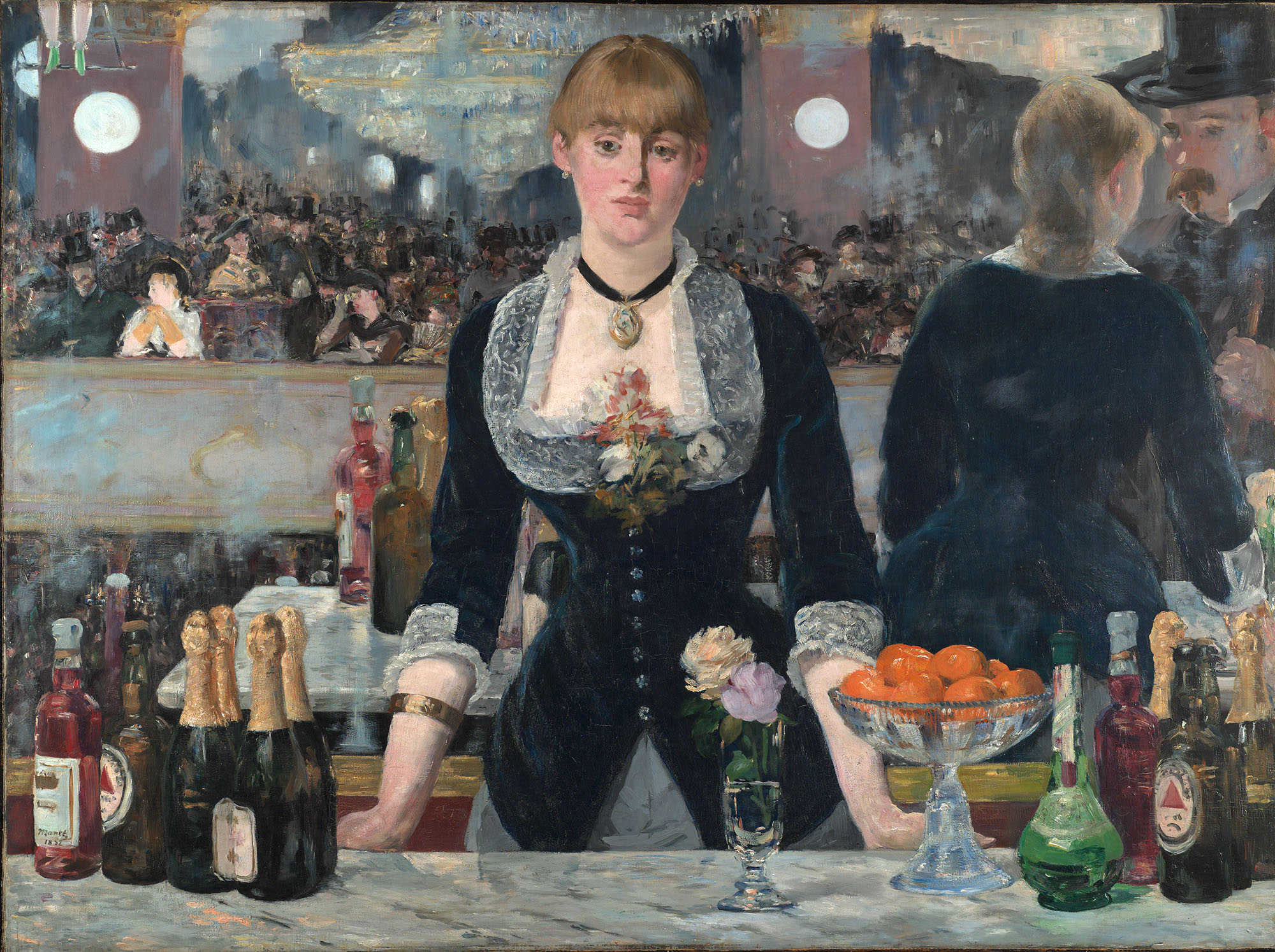 a bar at the folies bergc3a8re by edouard manet 1882