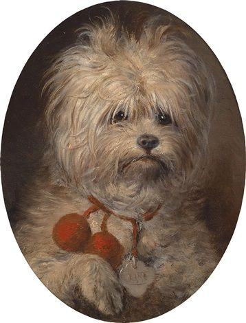 portrait of a dog by carl reichert 1836 1918