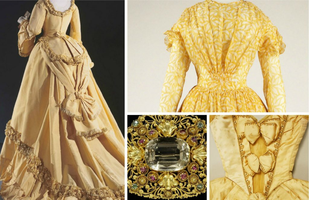 Shades of Victorian Fashion: Butter, Lemon, Gold, and Yellow ...