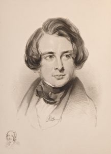 sketch of dickens in 1842 during american tour sketch of dickenss sister fanny bottom left