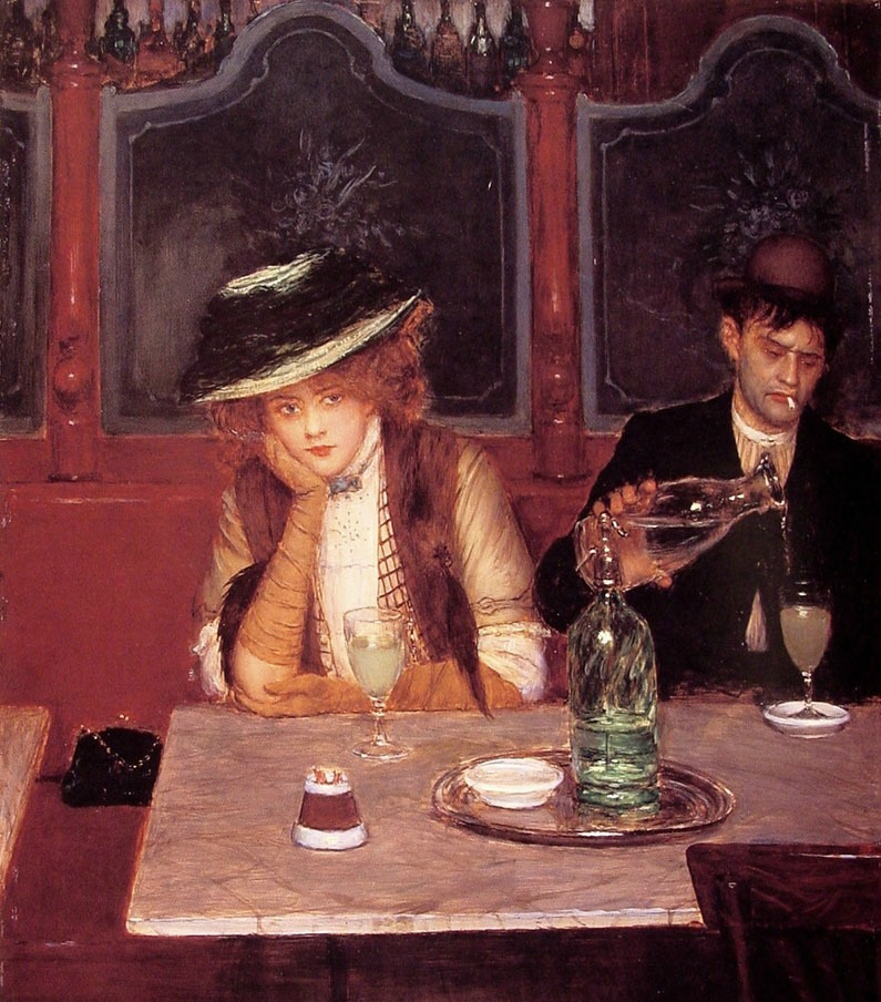 The Drinkers by Jean Béraud, 1908.