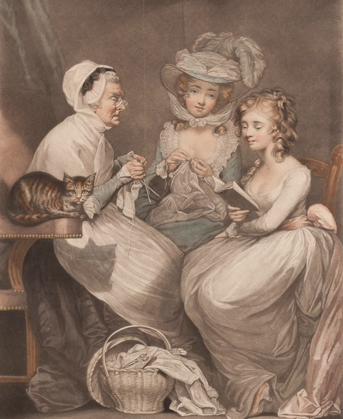 a visit to grandmother by john raphael smith after thomas james northcote 1785 five colleges and historic deerfield museum consortium