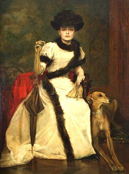 lady and a greyhound by vc3a1clav broc5bec3adk 1896 971