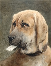 Mastiff Holding a Calling Card by Otto Eerelman, 19th century.