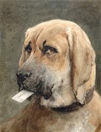 Mastiff Holding a Calling Card by Otto Eerelman, 19th century.