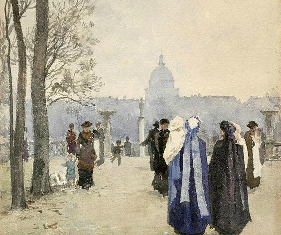 stroll in the park by aleksander gierymski 1891 18932