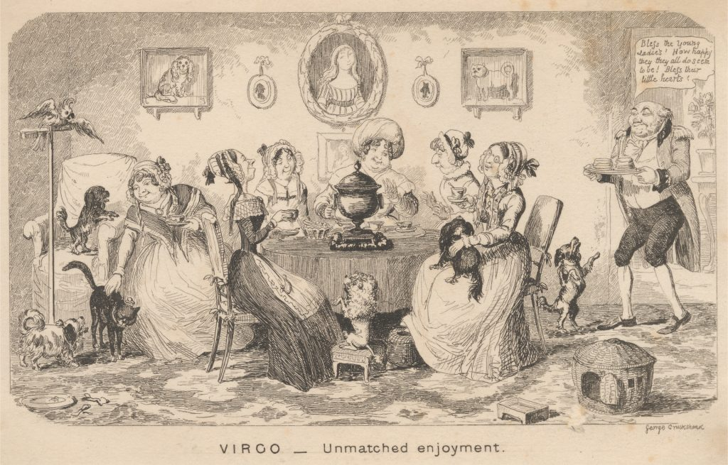 Virgo - Unmatched Enjoyment by George Cruikshank, undated.(Yale Center for British Art)