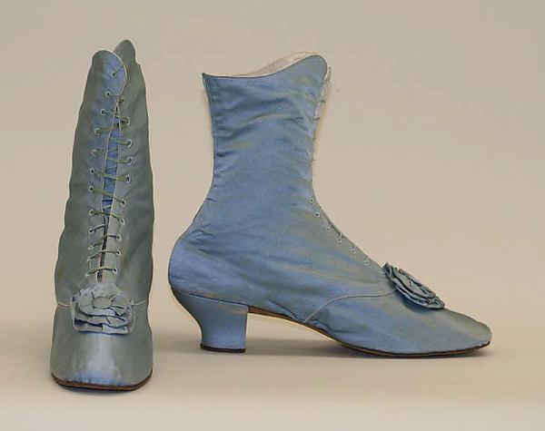 1870s american or european silk shoes via met museum